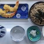 はらしま食堂 - 料理写真:天ざるそば(1,200円)or海老天ぷらそば(800円)