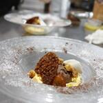 リール - ショコラとパッションフルーツのデザート