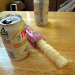 15853121 - 缶ビール350円とつまみ200円