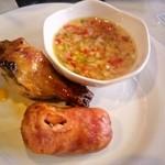 ボヴィーノスブラジリアンバーベキュー - チキンとソーセージとお肉用のドレッシング