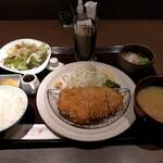 羅豚 - ロースかつ御膳1100円