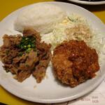 シーザー - Aセット(牛肉照り焼き&ビクトリアカツレツ)980円