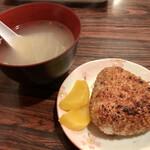 一鳥 - 焼きおにぎり、とりスープ