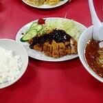 中華料理 広東 - 料理写真:チキンみそかつセット 1250円