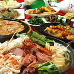 パンガパンガ - 宴会コース選べる鍋(1)20種類以上の野菜やハムが入ったプデチゲ