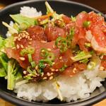 天下の台所大起水産 さしみと寿司の店 - ミニユッケ丼の出来上がり♡♡ᵕ̈*⑅