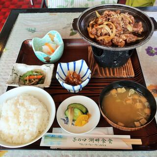 子の口湖畔食堂 - 料理写真:十和田湖名物 バラ焼定食(牛バラ)
