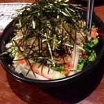斗と乃蔵 - 水菜と大根のサラダ明太子ドレッシング