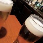 和酒 まん月や - 生ビール¥380(キリン一番搾り)