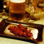 酔処 楽風 - 大山鶏レバー 1本150円。