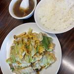 明記大陸食堂 - 木須肉Bセット 900円