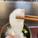 Kitanadagyokyouchokusou toretateshokudou - 鯛の刺身