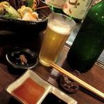 和酒 まん月や - お造り(塩、ポン酢、お醤油)