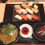 鮨・酒・肴 杉玉 - 寿司と鯛出汁塩ラーメンセット  990円税込