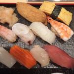 鮨・酒・肴 杉玉 - 握り寿司等  10貫  上から