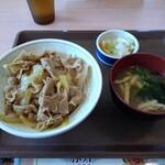 すき家 - 料理写真:豚丼+お新香セット