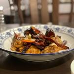 松の樹 - 大粒牡蠣の辛子炒め