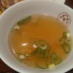 大阪王将 - 定食のスープ