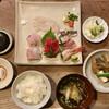 山文魚 - 料理写真:「おさしみ定食」@2000 ご飯、あら汁、煮物、漬物が付きます