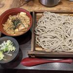 嵯峨谷 - 炭火親子丼セット600円