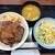 松屋 - 料理写真:ビフテキ丼彩り生野菜セット(にんにくごま醤油)850円