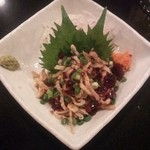とり元 - 2012.11.15 炙り鶏皮ポン酢、絶品                             ポン酢ゼリー