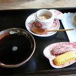 南の島カフェ ぶくぶく茶屋 - ぶくぶくを載せる前のアイスコーヒー@2009/5