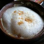 南の島カフェ ぶくぶく茶屋 - ぶくぶくを載せてピーナッツ粉をまぶして出来上がり◇2009/5