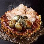 錦わらい - 料理写真:旨み引き出す お好み焼き 牡蠣玉