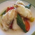 ユーヨーカフェ - 2012/11 魚のランチ・たらの揚げ物と焼き野菜