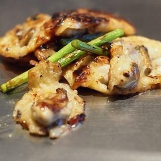八昌 - 料理写真:牡蠣の鉄板焼き