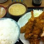 天ぷら 豊野 - フライ盛り合わせ定食