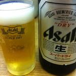 天ぷら 豊野 - ビールはスーパードライ