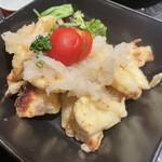 酒肴旬漁 狸穴 - 鳥の天ぷら