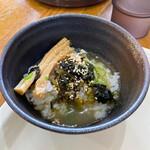 Ramen光鶏 - 高菜スープ茶漬け(支那そばスープ)