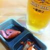 一心飯店 - 料理写真:生ビールにお通し