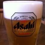 蕎麦の実 - ランチビールのジョッキ