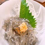 くろば亭 - 料理写真:三崎のしらす船「君栄丸」の生しらす