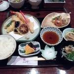 割烹 かどや - 天婦羅御膳(1500円)
