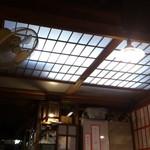 居酒屋 葉牡丹 - 天井に戸が!!