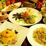 千龍 - コース料理一例