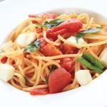 朝もぎ野菜Dining彩り家 - モッツァレラとバジルのトマトパスタ