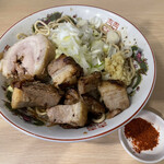 自家製麺 まさき - 料理写真:【2021.9.25】豚魚らーめん850円+豚増し200円