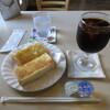 Kafehirose - 料理写真:トースト&アイスコーヒー