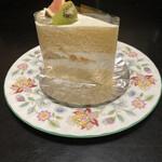 158822323 - イチジク&キウイ乗せ定番ショートケーキ730円