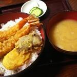 和泉庵わかや - 天丼 ¥990