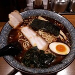 屯ちん - 魚豚ラーメン大盛ちぢれ麺780円