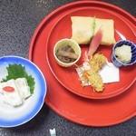 割烹 ささ川 - 芋三昧(先付、前菜)