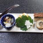 割烹 ささ川 - 前菜:鰻ふくさ、含め6品