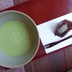 彩翔亭 - お茶と和菓子セット420円